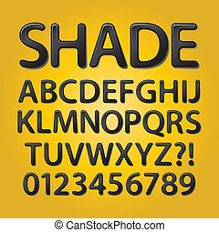 Abstract Rounded Black Shade Font