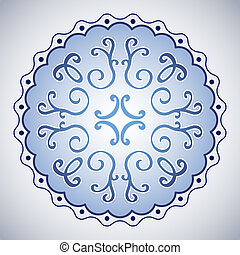 Abstract rounded blue symbol illustration