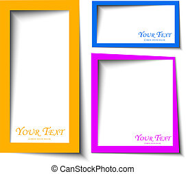 abstract Rounded rectange text boxes with colorful background design vector