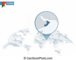 Oman Map Illustrations And Clip Art Oman Map Royalty Free - Oman in world map