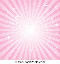 abstract, roze, sterren en strepen