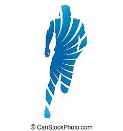 Abstract runner. Vector sprinter
