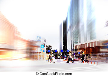 Abstract rush hour - Abstract business rush hour. Motion...
