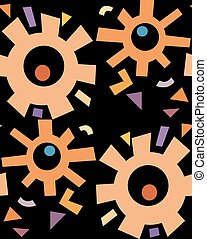 Abstract Rusty Gears Pattern