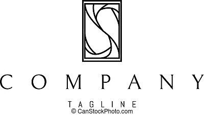 abstract, s, vector, black , brief, logo, ontwerp