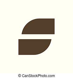 abstract, s, vector, brief, logo, geometrisch