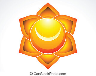abstract sacral chakra vector