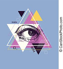 Abstract sacred geometrical symbol.