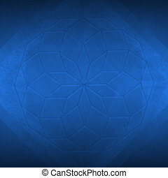 Abstract sacred geometry dark blue background - Sacred...
