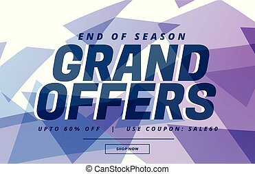 abstract sale banner poster design for grand sale