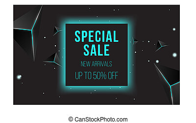 Abstract sale banner