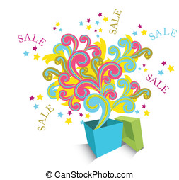 Abstract sale element. Easy to edit vector image.