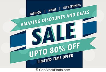 abstract sale poster vector design template