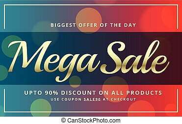 abstract sale voucher template design with vibrant bokeh background