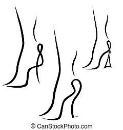 Abstract samples of graceful female feet