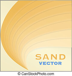 Abstract sand design element