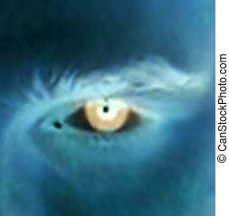 Abstract scary eye. Vector