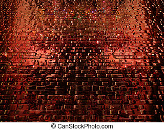 abstract scene with texture and patterns