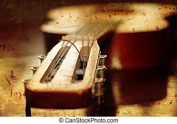 acoustic guitar - abstract scene of the acoustic guitar as ...