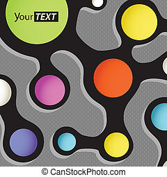 Abstract scheme with color circles. Template for a text