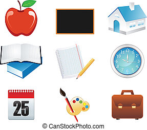 abstract school icons