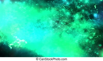 Abstract science fiction animated looping background multi...