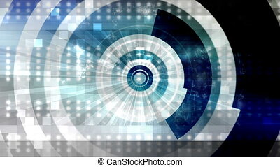 Abstract science fiction shapes - Geometric looping animated...