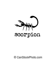abstract scorpion vector design template
