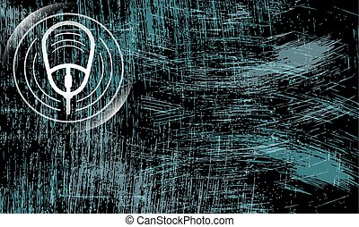 Abstract scratched background and mouse symbol