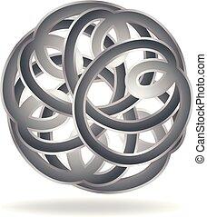 Abstract scrawl circle vector design illustration