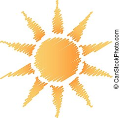 Abstract scribble sun logo