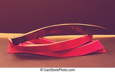 Photograph of an abstract art sculpture