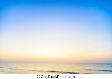 Abstract sea blur