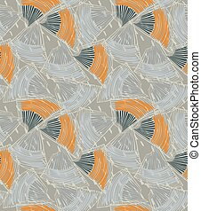 Abstract sea shell gray textured