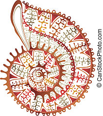 Abstract Sea Shell - Illustration of abstract sea shell...