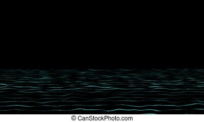 Abstract sea waves for background