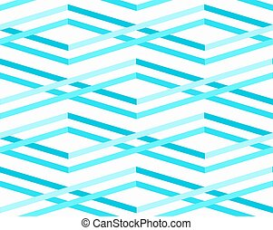 Abstract Sea Waves Seamless Pattern
