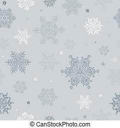 abstract, seamless, achtergrond., vector, eps8, sneeuwvlok