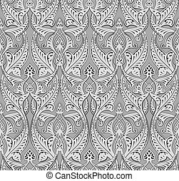 Abstract seamless art nouveau pattern