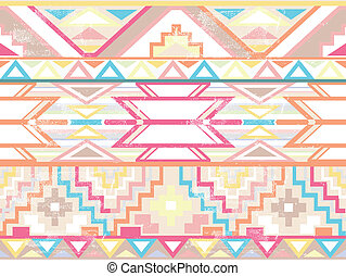 Abstract seamless aztec pattern - Abstract geometric...