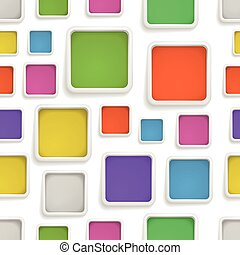 Abstract seamless background of color boxes. Template for a text