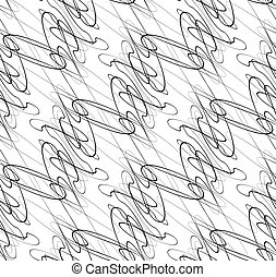 Abstract seamless background / pattern with squiggly lines....