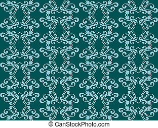 Abstract seamless background with blue adornments