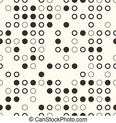 abstract seamless background with monochrome circles