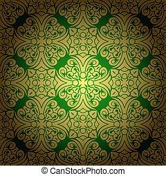 Abstract seamless  baroque vector
