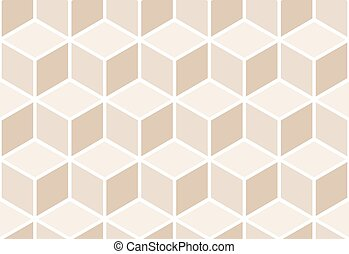 Abstract seamless beige cube pattern