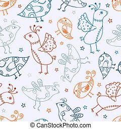 Seamless Bird Silhouette Pattern