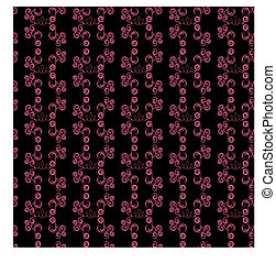 Abstract seamless black and pink pa
