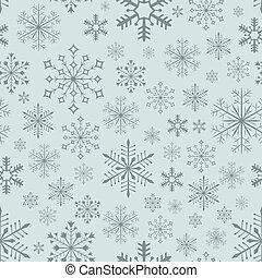 Abstract,  seamless, blauwachtig, achtergrond,  Vector, sneeuwvlok