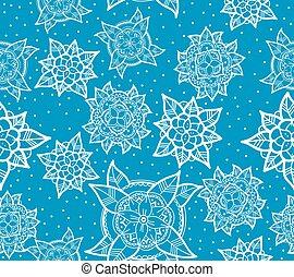 Seamless Blue Flower Pattern